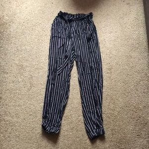 Forever 21 High Waisted Striped Pants